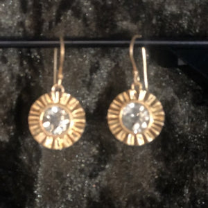 Tiffin earring in gold with citrine