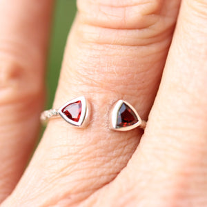 Double Triangle Open Stacking Ring