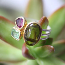 Load image into Gallery viewer, Tourmaline Stacking Ring