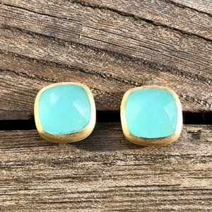 Faceted Stone Studs