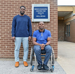 Didi Mukendi (BKin '14) and Eric Mukendi (BBA '07) have donated $30,000 to the Brock-Niagara Centre for Health and Well-Being on behalf of their company, C6 Medical.