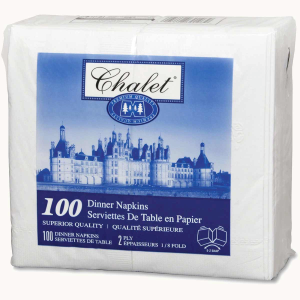 CHALET 2-PLY 1/8 FOLD DINNER NAPKIN (100 PER PACKAGE)