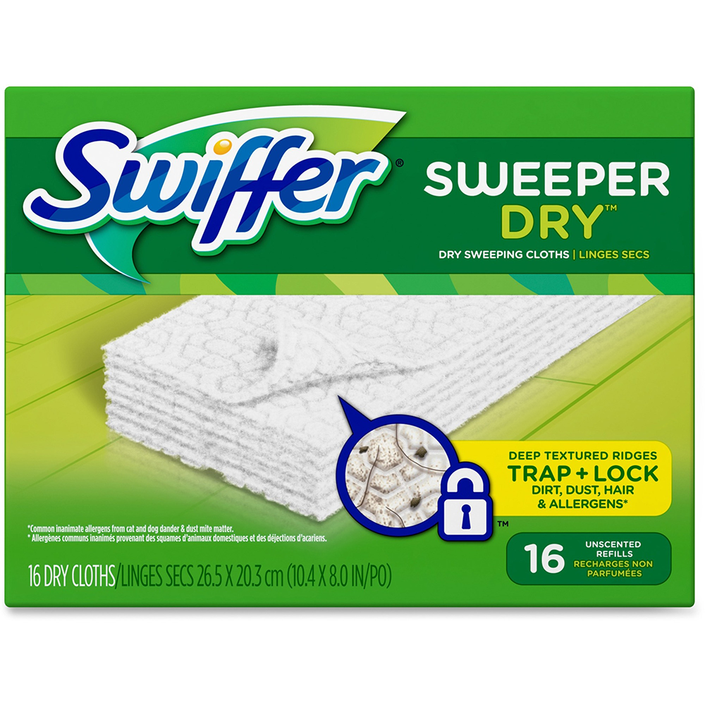 SWIFFER DISPOSABLE REFILL CLOTHS (16 PER PACKAGE)