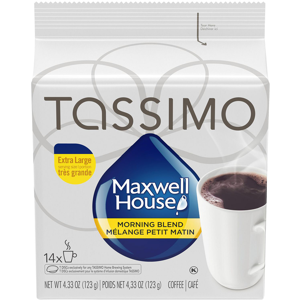 TASSIMO MAXWELL HOUSE MORNING BLEND COFFEE SINGLE SERVE T-DISCS