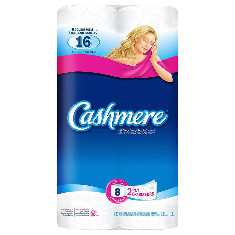 CASHMERE 2-PLY BATHROOM TISSUE (8 DOUBLE ROLLS PACK)