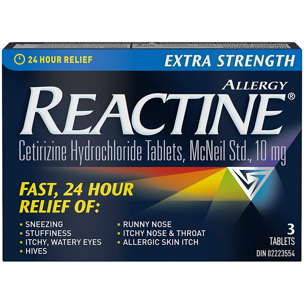 REACTINE EXTRA STRENGTH TABLETS, 3 PACK