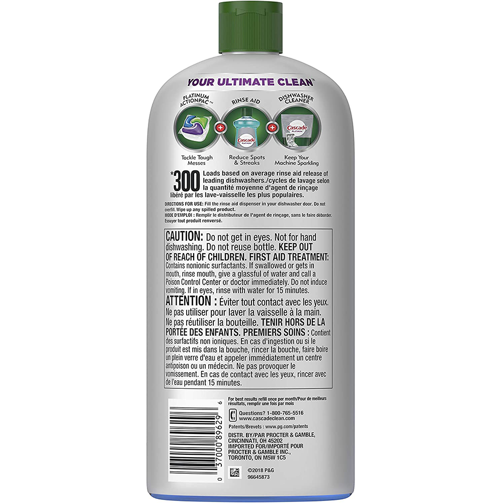 Platinum Dishwasher Rinse Aid and Drying Agent | 473 mL
