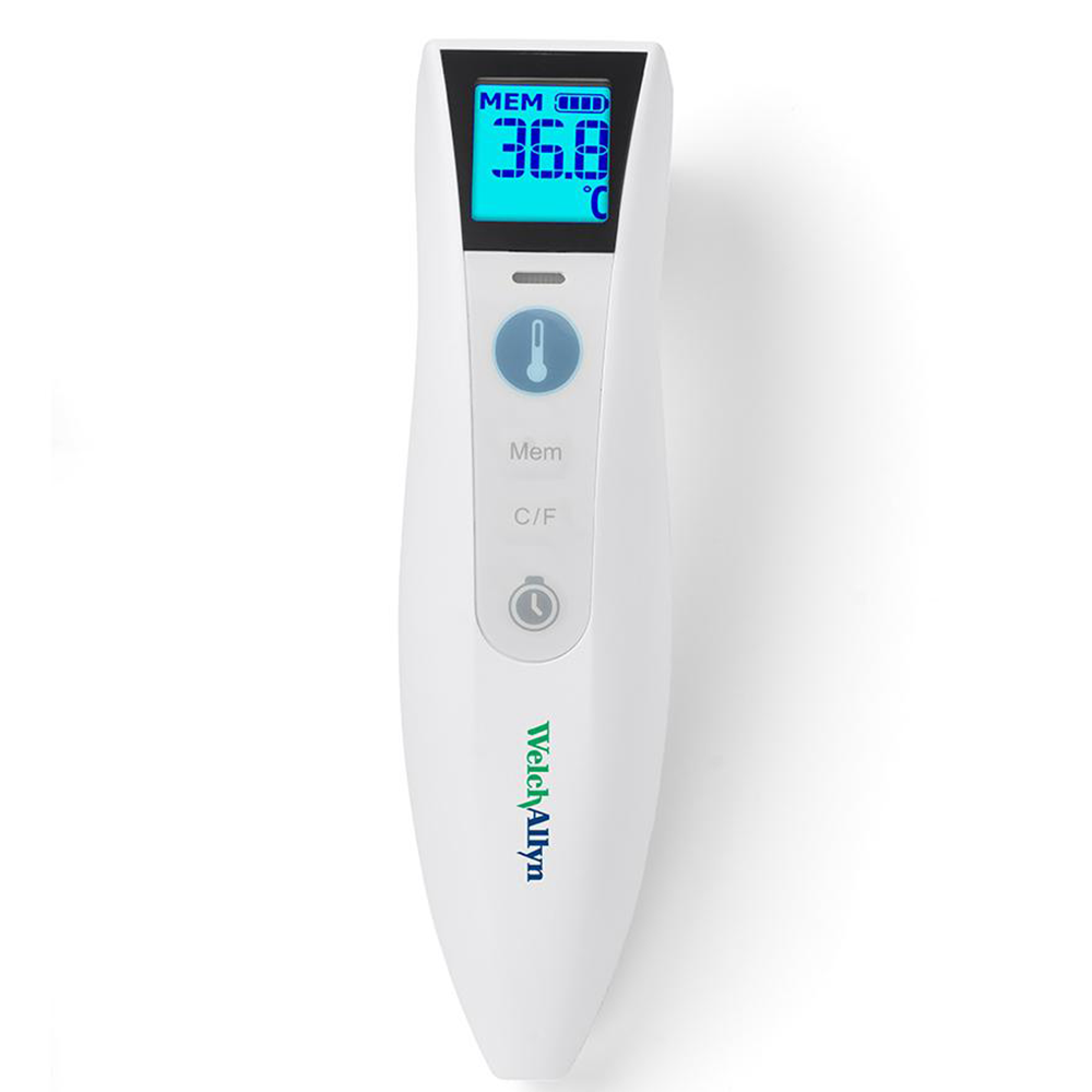 WELCH ALLYN CARETEMP TOUCH FREE INFRARED FOREHEAD DIGITAL THERMOMETER