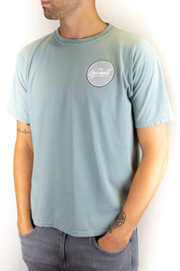 Pale Jade Short Sleeve Circle Logo Tee