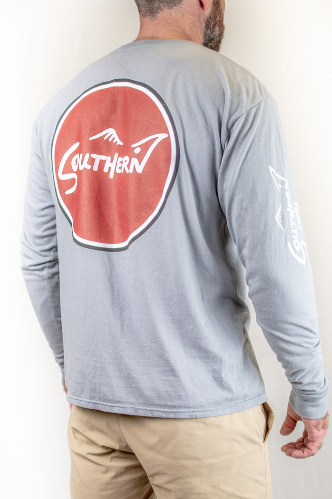 Grey and Garnet Long Sleeve Southern Tee