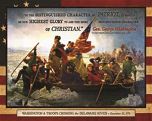 Washington & Troops Crossing the Delaware (100 pieces)