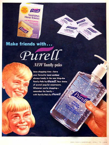 old purell ad from the early 1990s