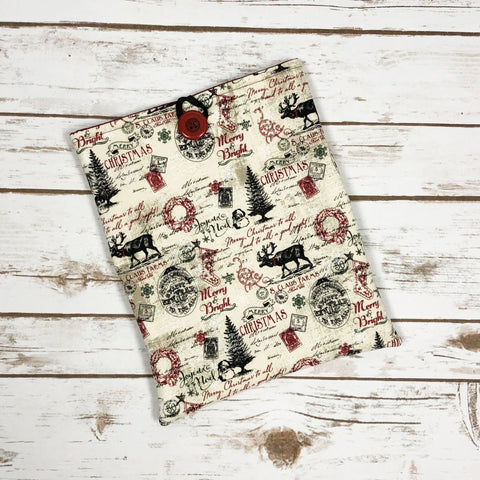 Vintage Christmas Book Sleeve