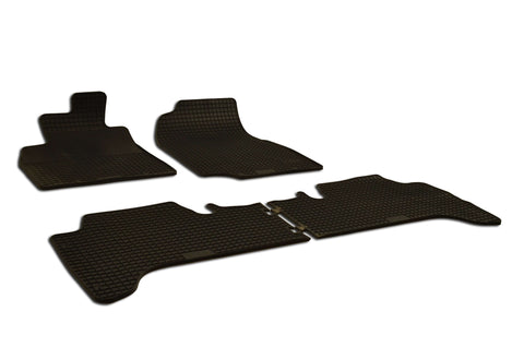 Toyota Land Cruiser 2007 Set of 4 Black Rubber OE Fit All Weather Car Floor Mats