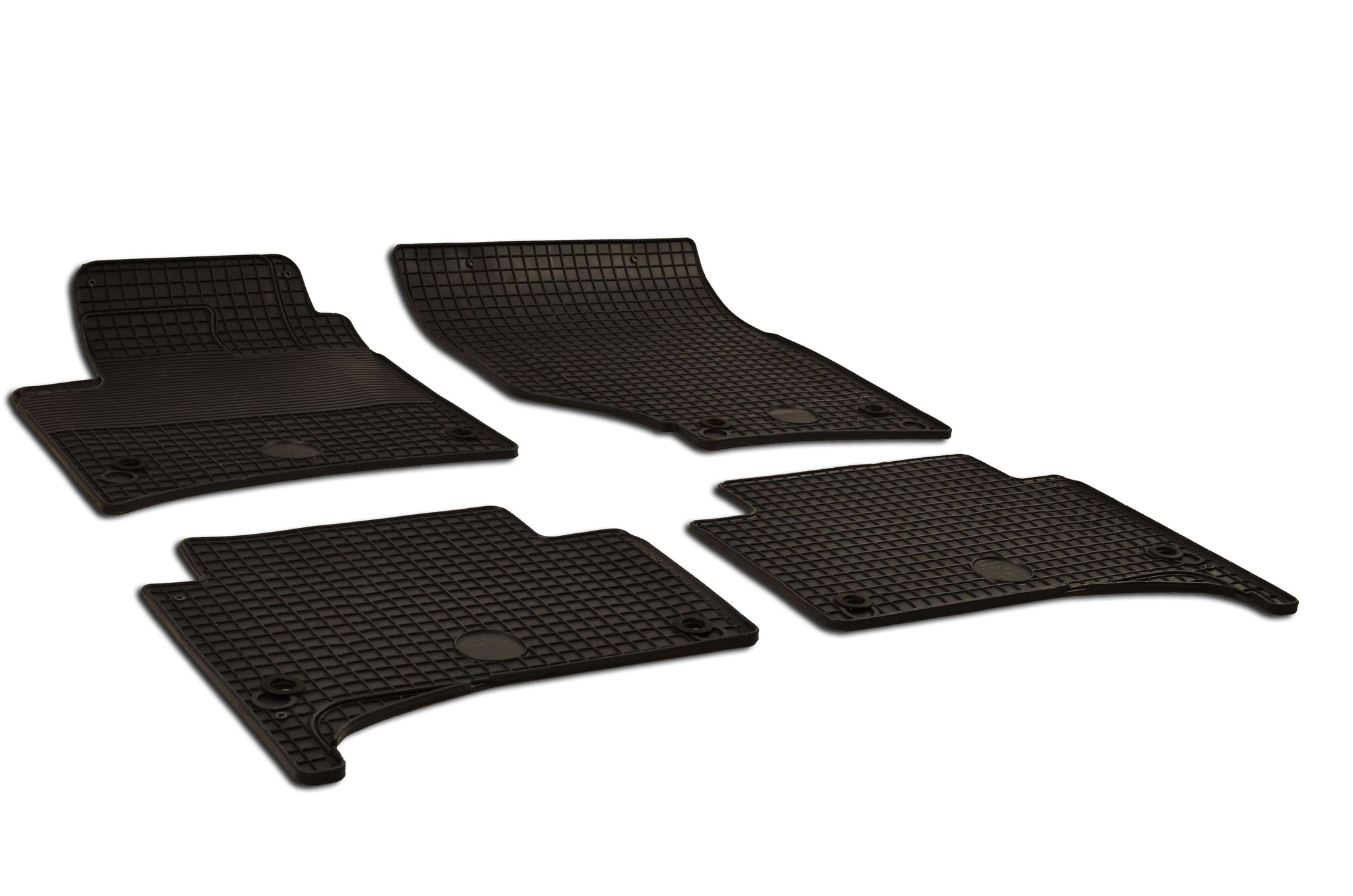 Porsche Cayenne 2008 Set of 4 Black Rubber OE Fit All Weather Car Floor Mats