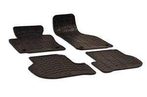 Volkswagen Rabbit  2007 Set of 4 Black Rubber OE Fit All Weather Car Floor Mats - Car Mats Hero