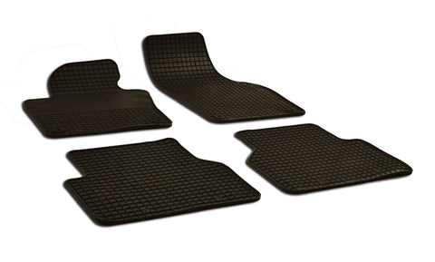 Volkswagen Tiguan 2012 Set of 4 Black Rubber OE Fit All Weather Car Floor Mats