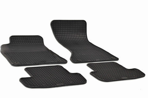 Audi A5 2015 Coupe BT30AH Set of 4 Black Rubber OE Fit All Weather Car Floor Mats