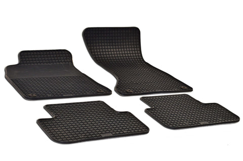 Audi A4 2015 B8 Set of 4 Black Rubber OE Fit All Weather Car Floor Mats