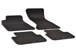 Audi A4 2010 B8 Set of 4 Black Rubber OE Fit All Weather Car Floor Mats - Car Mats Hero