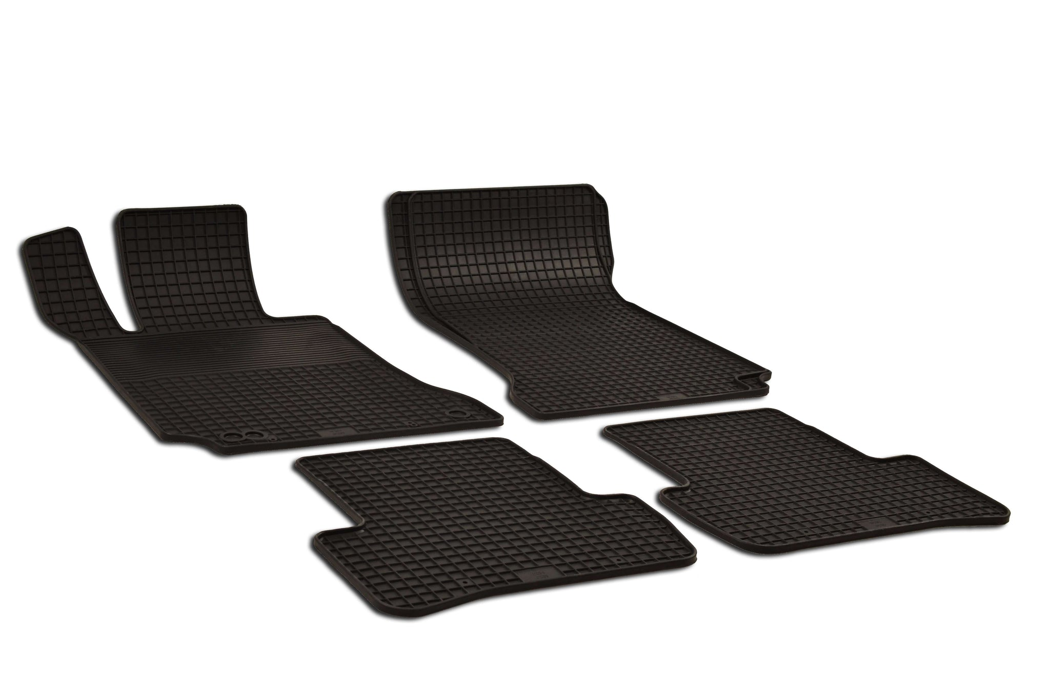 Mercedes C250 2012 Sedan Base 204.085 Set of 4 Black Rubber OE Fit All Weather Car Floor Mats