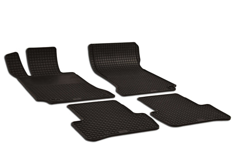 Mercedes C300 2011 Sedan 4Matic Luxury 204.081 Set of 4 Black Rubber OE Fit All Weather Car Floor Mats