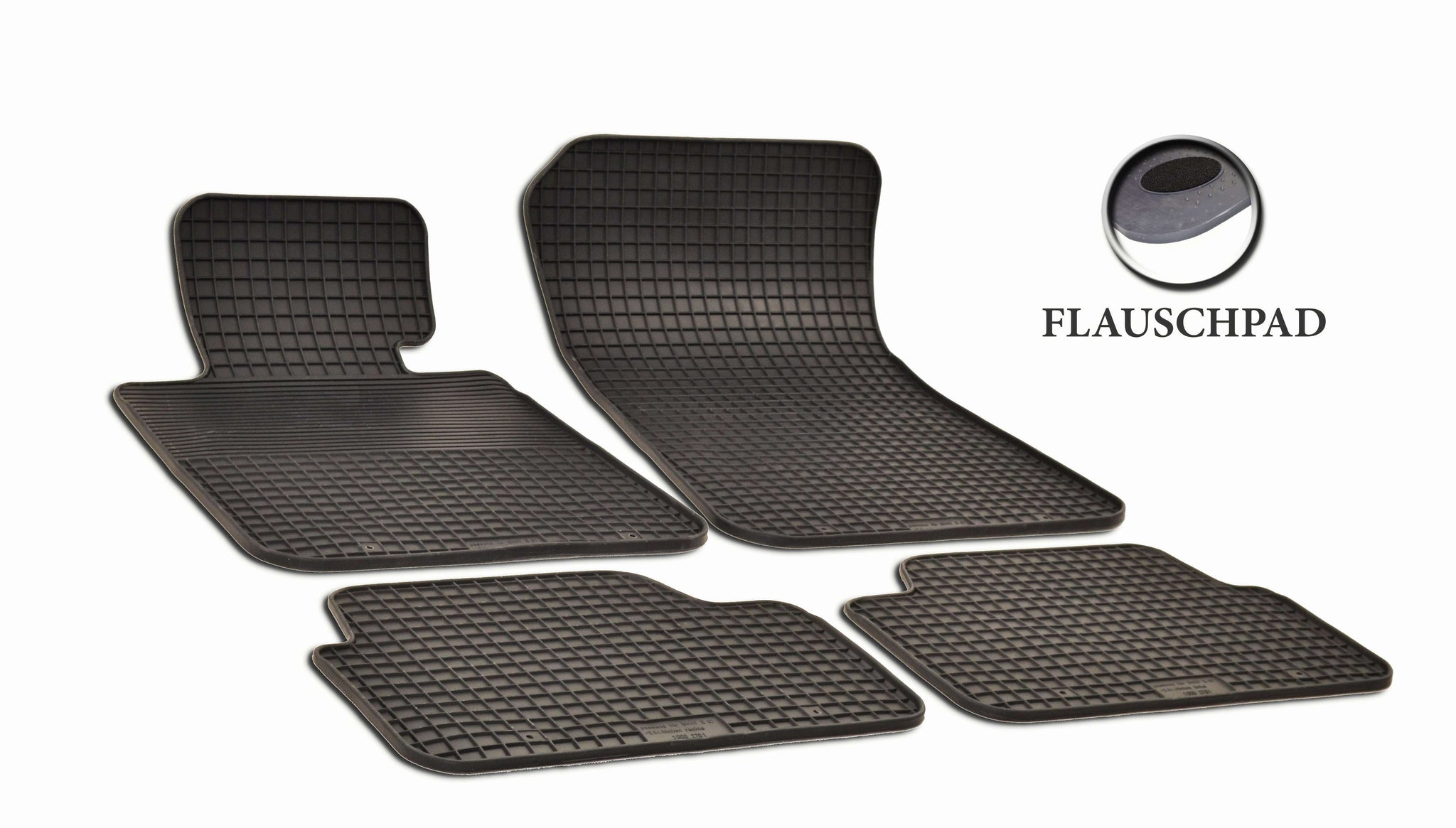 BMW X1 2013  E84 Set of 4 Black Rubber OE Fit All Weather Car Floor Mats