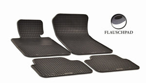 BMW X1 2014  E84 Set of 4 Black Rubber OE Fit All Weather Car Floor Mats - Car Mats Hero
