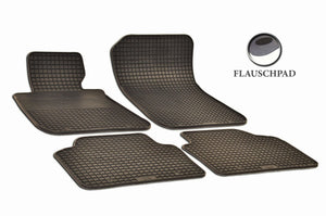 BMW 328i 2007 Sedan E90 Set of 4 Black Rubber OE Fit All Weather Car Floor Mats - Car Mats Hero