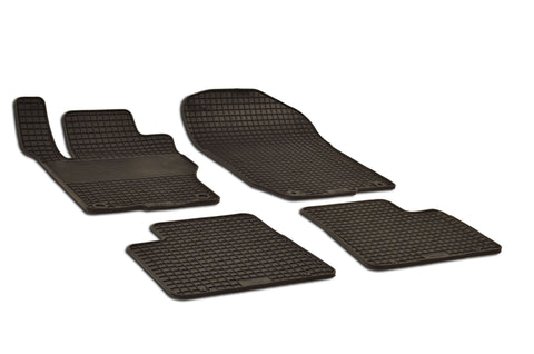 Mercedes ML63 AMG 2010 Base 164.177 Set of 4 Black Rubber OE Fit All Weather Car Floor Mats