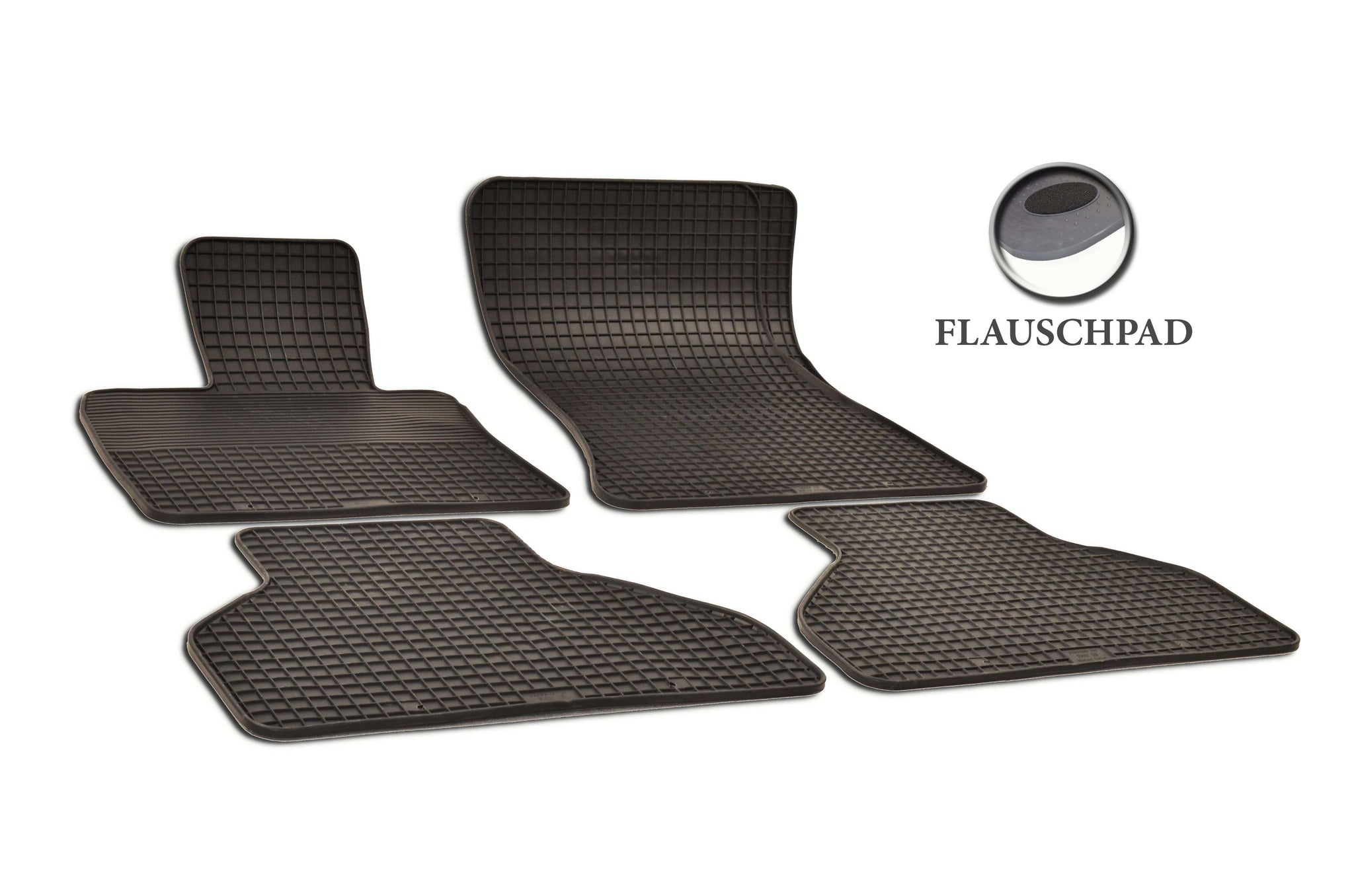 BMW X5 2012 xDrive50i E70 Set of 4 Black Rubber OE Fit All Weather Car Floor Mats