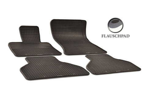BMW X6 2018 xDrive50i F16 Set of 4 Black Rubber OE Fit All Weather Car Floor Mats