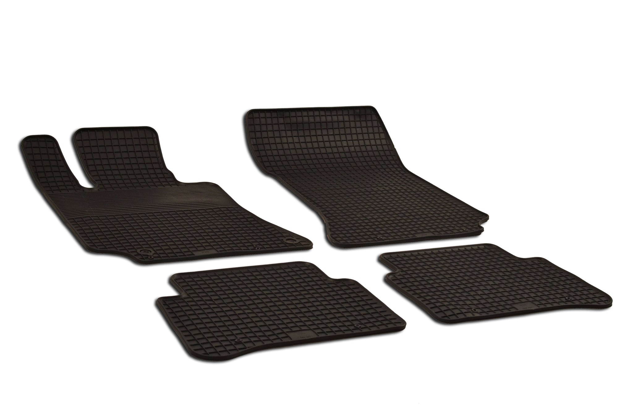 Mercedes E350 2010 Sedan 212.087 Set of 4 Black Rubber OE Fit All Weather Car Floor Mats