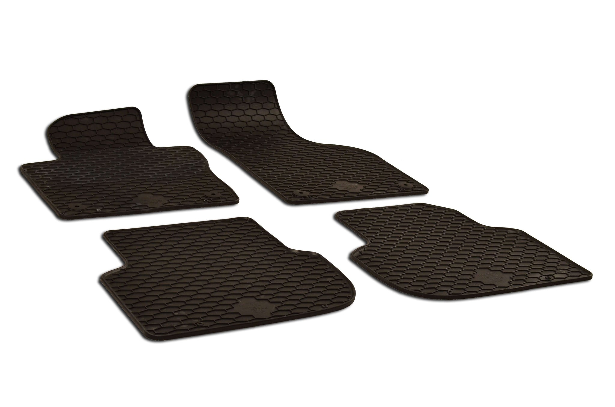 Volkswagen Jetta 2019 Set of 4 Black Rubber OE Fit All Weather Car Floor Mats