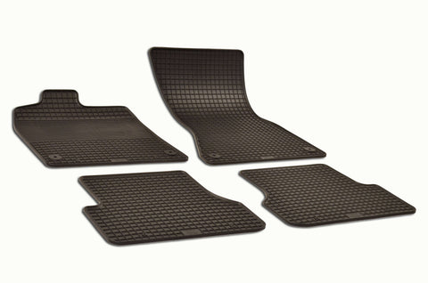 Audi A6 2013 C7 Set of 4 Black Rubber OE Fit All Weather Car Floor Mats