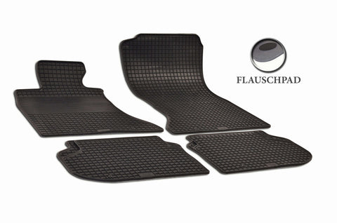 BMW 550i 2014 F10 Sedan Set of 4 Black Rubber OE Fit All Weather Car Floor Mats