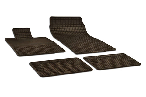 Mini Cooper Countryman 2014 R60 John Cooper Works ALL4 Set of 4 Black Rubber OE Fit All Weather Car Floor Mats
