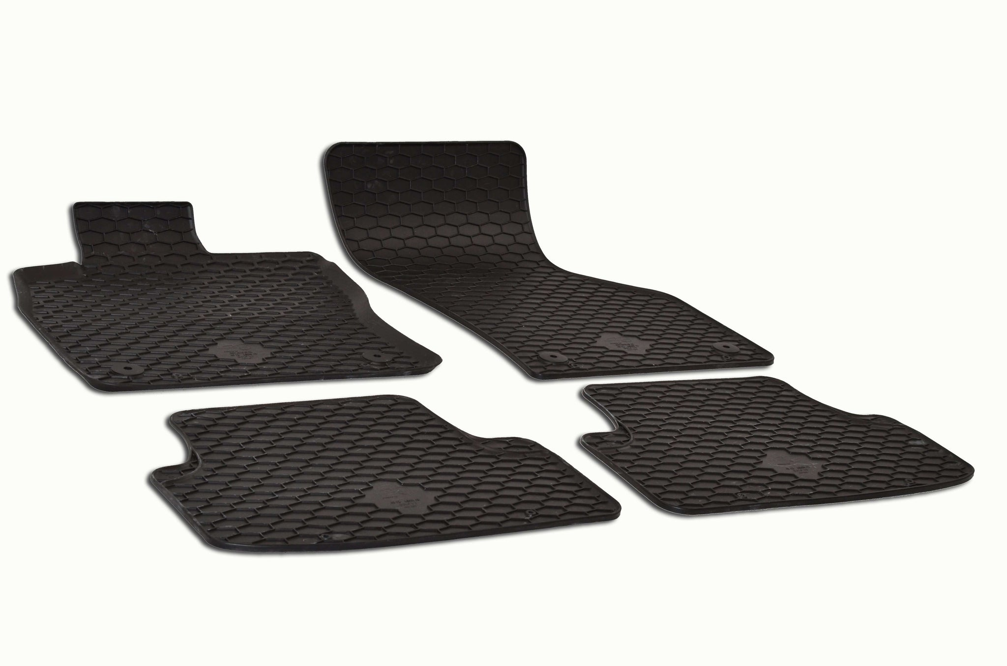 Volkswagen Golf MK7 2015 Set of 4 Black Rubber OE Fit All Weather Car Floor Mats
