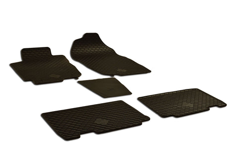 Toyota RAV4 2016 Set of 5 Black Rubber OE Fit All Weather Car Floor Mats