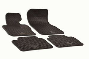 BMW 328i 2014 F30 Sedan Set of 4 Black Rubber OE Fit All Weather Floor Mats - Car Mats Hero