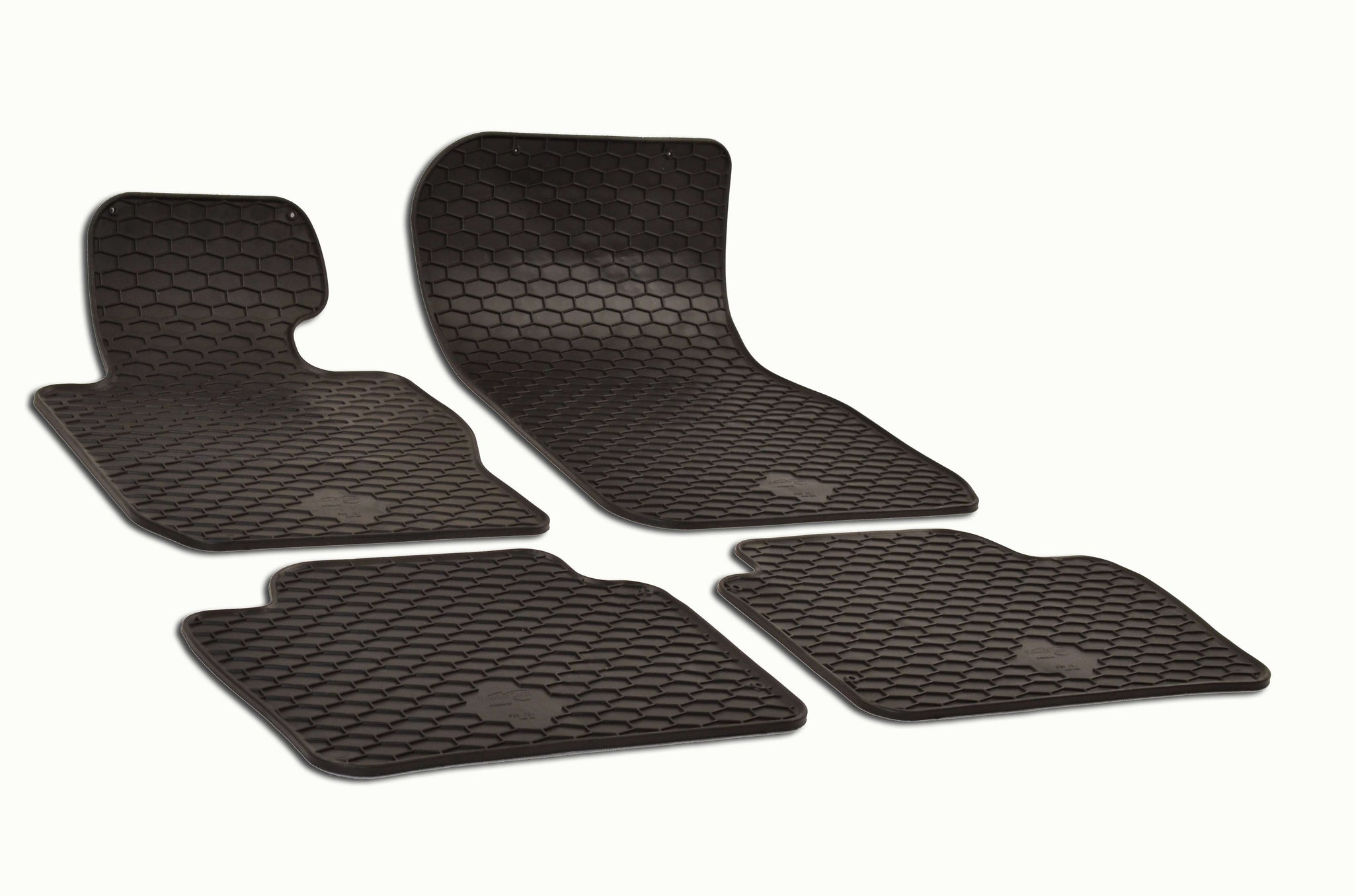 BMW 330e 2016 F30 Sedan Set of 4 Black Rubber OE Fit All Weather Floor Mats