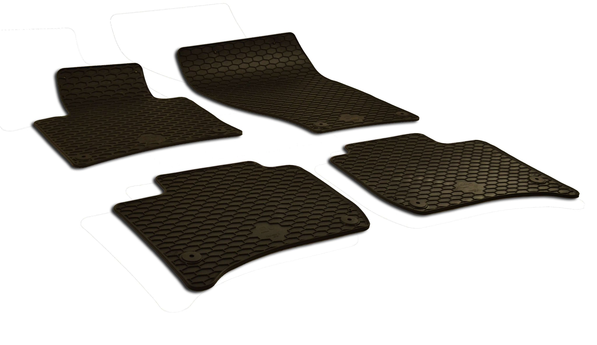 Volkswagen Touareg 2015 Set of 4 Black Rubber OE Fit All Weather Floor Mats