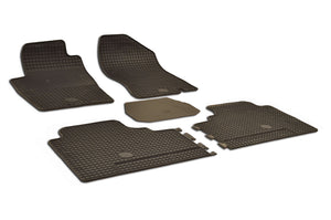 Nissan Frontier 2007 Crew Cab Pickup Set of 5 Black Rubber OE Fit All Weather Car Floor Mats - Car Mats Hero