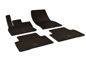 Volkswagen Tiguan 2017 Set of 4 Black Rubber OE Fit All Weather Car Floor Mats - Car Mats Hero