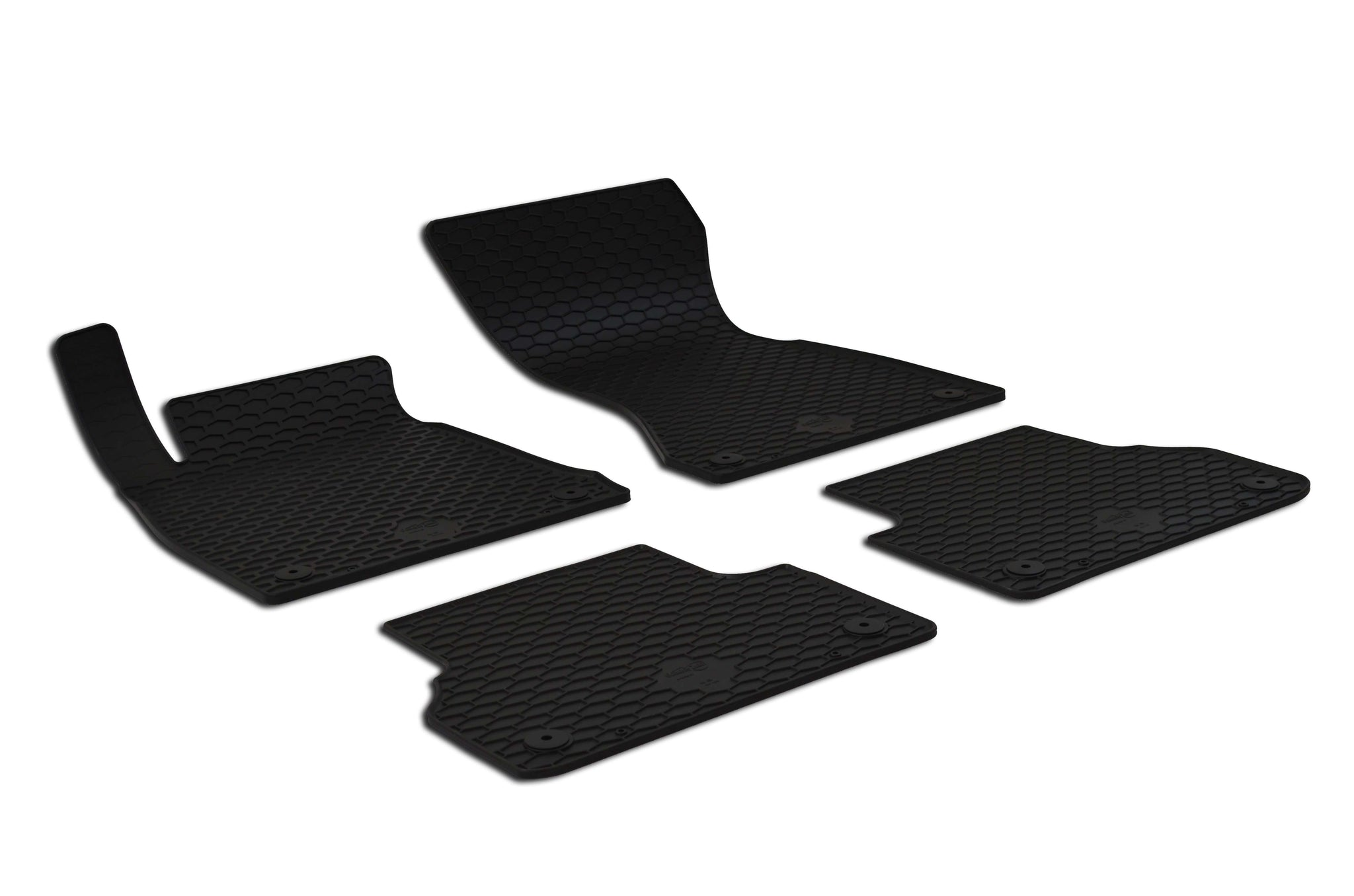 Audi A4 2017 B9 Set of 4 Black Rubber OE Fit All Weather Car Floor Mats