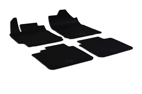 Toyota Camry 2016 Set of 4 Black Rubber OE Fit All Weather Car Floor Mats