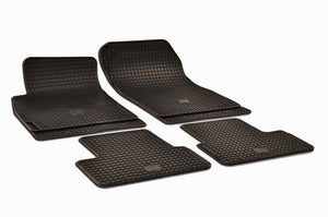 Chevrolet Cruze 2014 Set of 4 Black Rubber OE Fit All Weather Floor Mats - Car Mats Hero