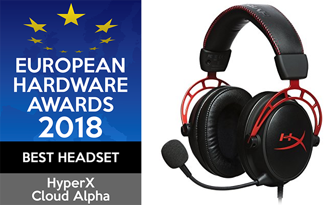European Hardware Awards 2018 Best Headset HyperX Cloud Alpha