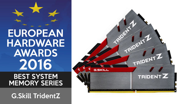 European Hardware Awards 2016 Best System Memory G.Skill Trident Z