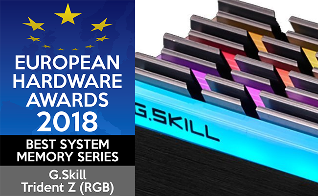 European Hardware Awards 2018 Best System Memory Series G.Skill Trident Z RGB